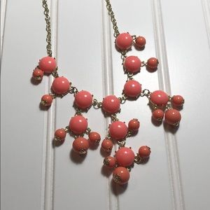 Jewelry - Coral and gold beaded bib necklace